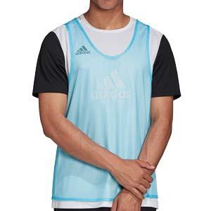 Peto adidas Training Bib 14 - Peto de entrenamiento de fútbol adidas - azul celeste - frontal