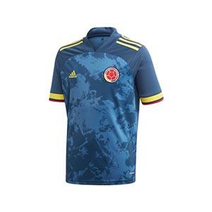 Camiseta adidas 2a Colombia niño 2019 2020 - Camiseta infantil segunda equipación selección colombiana 2019 2020 - azul marino - frontal