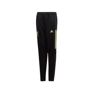 Pantalón adidas Bélgica niño entreno 2019 2020 - Pantalón largo infantil de entrenamiento selección belga 2019 2020 - negro - frontal