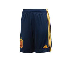 Short adidas España niño 2019 2020 - Pantalón corto infantil primera equipación selección española 2019 2020 - azul marino - frontal