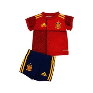 Equipación adidas España bebé 2019 2020 - Conjunto bebé primera equipación selección española 2019 2020 - rojo y azul marino - frontal