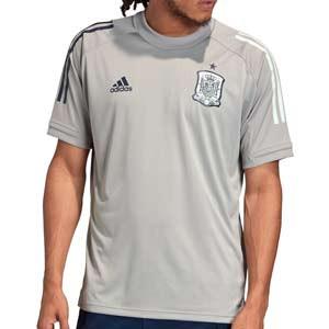 Camiseta adidas España entrenamiento - Camiseta de entrenamiento para entrenadores adidas de la selección española - gris - miniatura