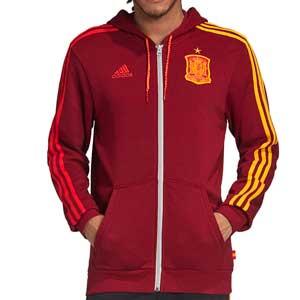 Sudadera adidas España Hoodie - Sudadera con capucha de algodón adidas de la selección española - roja - miniatura