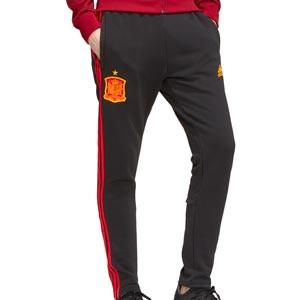 Pantalón adidas España paseo 3S - Pantalón largo de algodón adidas de la selección española - negro - miniatura