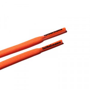 Cordones futbolmania extrafinos - Cordones extrafinos para botas de fútbol ligeras y botas de fútbol altas (4 mm ancho x 1,4 mm de grosor) - naranjas - herrete