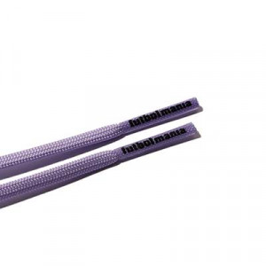 Cordones futbolmania extrafinos - Cordones extrafinos para botas de fútbol ligeras y botas de fútbol altas (4 mm ancho x 1,4 mm de grosor) - lilas - herrete