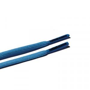Cordones futbolmania extrafinos - Cordones extrafinos para botas de fútbol ligeras y botas de fútbol altas (4 mm ancho x 1,4 mm de grosor) - azules - herrete