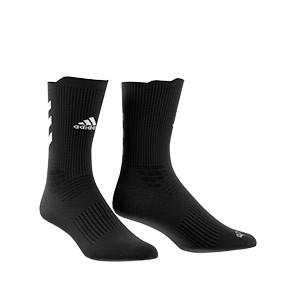 Calcetines adidas Alphaskin Crew acolchados - Calcetines de entrenamiento adidas media caña acolchados - negros