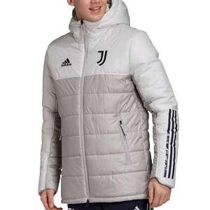 Abrigo adidas Juventus Winter - Anorak adidas Juventus 2020 2021 - gris - frontal