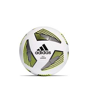 Balón adidas Tiro League talla 4 - Balón de fútbol adidas Team talla 5 - blanco y amarillo - frontal