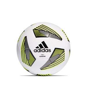 Balón adidas Tiro League talla 5 - Balón de fútbol adidas Team talla 5 - blanco y amarillo - frontal
