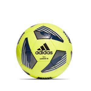 Balón adidas Tiro League TB tallla 5 - Balón de fútbol adidas Team talla 5 - amarillo flúor y azul - frontal