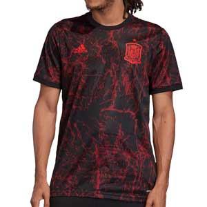 Camiseta adidas España pre-match - Camiseta calentamiento pre-partido adidas España - negra