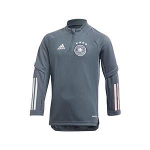 Sudadera adidas entreno niño Alemania 2019 2020 - Sudadera de entrenamiento selección alemana 2019 2020 - gris - frontal