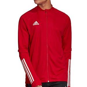 Chaqueta adidas Condivo 20 - Chaqueta de entrenamiento de fútbol adidas - roja - frontal