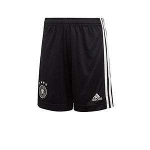 Short adidas entreno niño Alemania 2019 2020 - Pantalón corto infantil de entrenamiento selección alemana 2019 2020 - negro - frontal