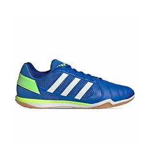 adidas Top Sala - Zapatillas de fútbol sala adidas suela lisa - azules - pie derecho