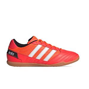 adidas Super Sala - Zapatillas de fútbol sala adidas suela lisa - rojas - pie derecho