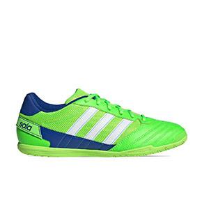 adidas Super Sala - Zapatillas de fútbol sala adidas suela lisa - verde flúor - pie derecho