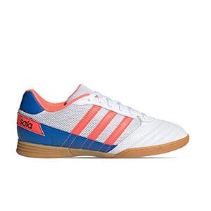 adidas Super Sala J - Zapatillas de fútbol sala para niño adidas suela lisa - blancas - pie derecho