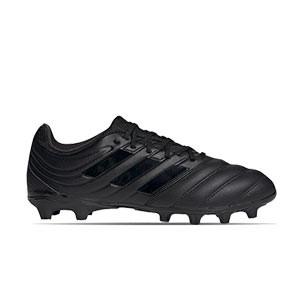 adidas Copa 20.3 MG - Botas de fútbol de piel adidas MG para césped natural o artificial - negras - derecho