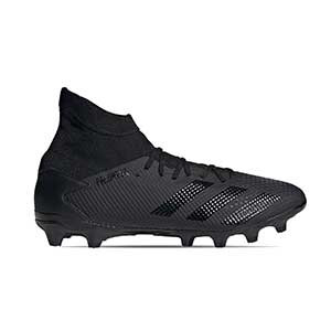 adidas Predator 20.3 MG - Botas de fútbol con tobillera adidas MG para césped artificial - negras - pie derecho
