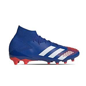 adidas Predator 20.1 AG - Botas de fútbol con tobillera adidas AG para césped artificial - azules - pie derecho