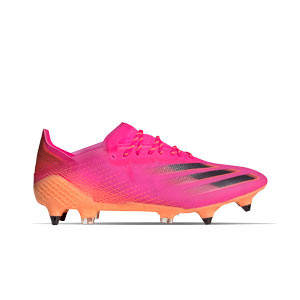 adidas X GHOSTED.1 SG - Botas de fútbol adidas SG para césped natural blando - rosas - frontal