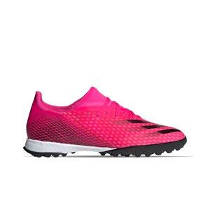 adidas X GHOSTED.3 TF - Zapatillas de fútbol multitaco adidas suela turf - rosas - pie derecho