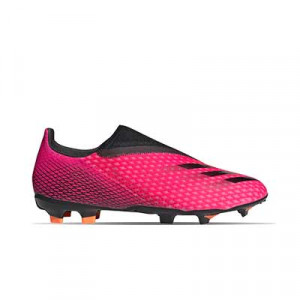 adidas X GHOSTED.3 LL FG - Botas de fútbol sin cordones adidas FG para césped natural o artificial de última generación - rosas - pie derecho