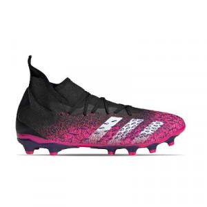 adidas Predator FREAK .3 MG - Botas de fútbol con tobillera adidas MG para césped artificial - rosas y negras - pie dereho
