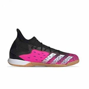 adidas Predator FREAK .3 IN - Zapatillas de fútbol sala con tobillera adidas suela lisa IN - rosas y negras - pie derecho