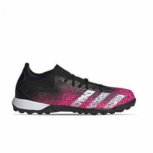 adidas Predator FREAK .3 Low TF - Zapatillas de fútbol multitaco adidas suela turf - rosas y negras - pie derecho