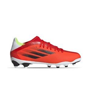 adidas X SPEEDFLOW.3 MG J - Botas de fútbol infantiles adidas MG para césped natural o artificial - rojas