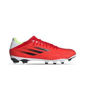 adidas X SPEEDFLOW.3 MG - Botas de fútbol adidas MG para césped natural o artificial - rojas