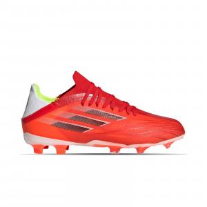adidas X SPEEDFLOW.1 FG J - Botas de fútbol infantiles adidas FG para césped natural o artificial de última generación - rojas