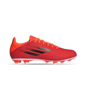 adidas X SPEEDFLOW.4 FxG - Botas de fútbol adidas FxG para múltiples terrenos - rojas