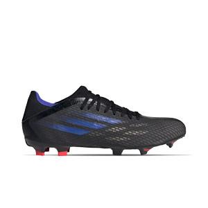 adidas X SPEEDFLOW.3 FG - Botas de fútbol adidas FG para césped natural o artificial de última generación - negras