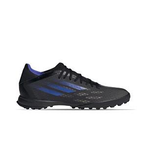adidas X SPEEDFLOW.3 TF - Zapatillas de fútbol multitaco adidas suela turf - negras