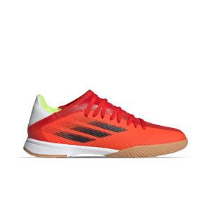 adidas X SPEEDFLOW.3 IN J - Zapatillas de fútbol sala infantiles adidas suela lisa IN - rojas