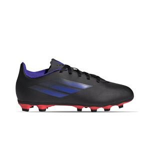 adidas X SPEEDFLOW.4 FxG J - Botas de fútbol infantiles adidas FxG para múltiples terrenos - negras