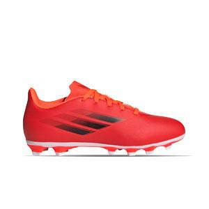 adidas X SPEEDFLOW.4 FxG J - Botas de fútbol infantiles adidas FxG para múltiples terrenos - rojas