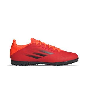 adidas X SPEEDFLOW.4 TF - Zapatillas de fútbol multitaco adidas suela turf - rojas