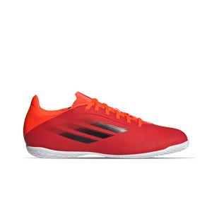 adidas X SPEEDFLOW.4 IN - Zapatillas de fútbol sala adidas suela lisa IN - rojas