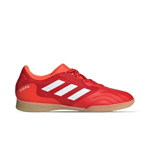 adidas Copa SENSE.3 IN Sala J - Zapatillas de fútbol sala infantiles adidas suela lisa IN - rojas