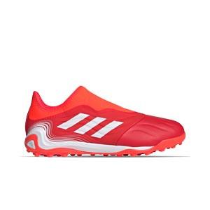 adidas Copa SENSE.3 LL TF - Zapatillas de fútbol multitaco de piel sin cordones adidas suela turf - rojas