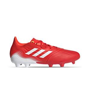 adidas Copa SENSE.2 FG - Botas de fútbol de piel adidas FG para césped natural o artificial de última generación - rojas