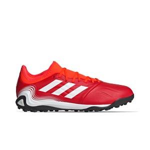 adidas Copa SENSE.3 TF - Zapatillas de fútbol multitaco de piel adidas suela turf - rojas