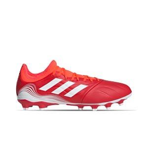 adidas Copa SENSE.3 MG - Botas de fútbol de piel adidas MG para césped natural o artificial - rojas