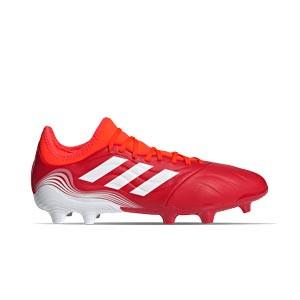 adidas Copa SENSE.3 FG - Botas de fútbol de piel adidas FG para césped natural o artificial de última generación - rojas